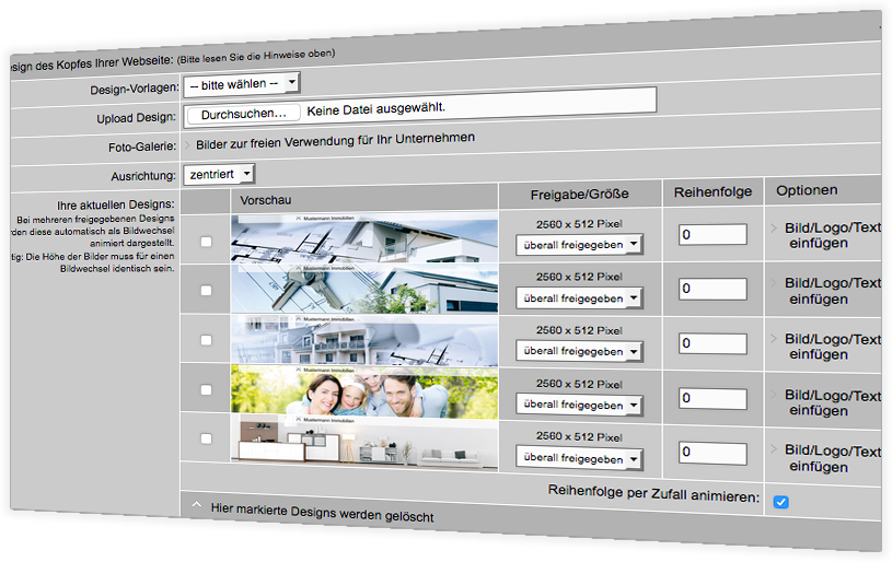 Die perfekte immobilien homepage f r immobilien makler mit for Immo design
